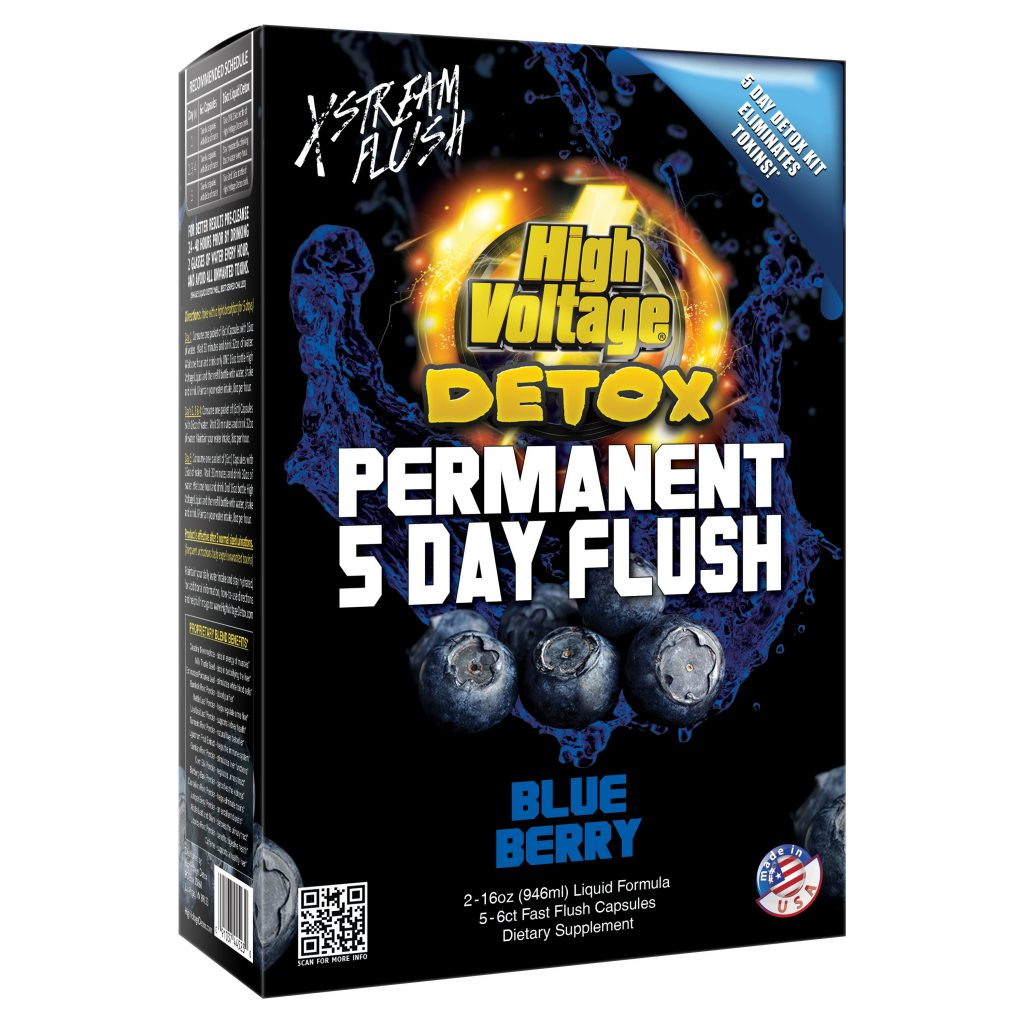 High Voltage Detox Permanent 5 Day Flush Blueberry