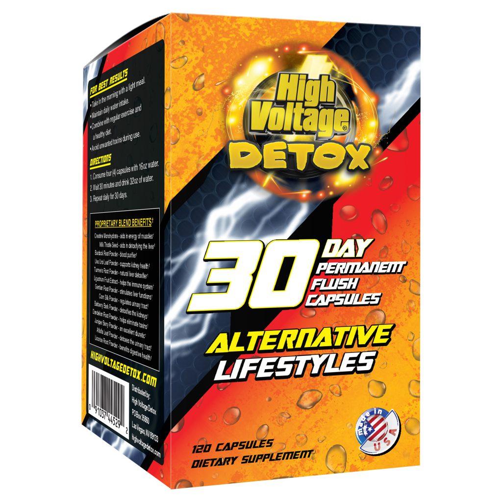 High Voltage Detox 30 Day Permanent Flush Capsules