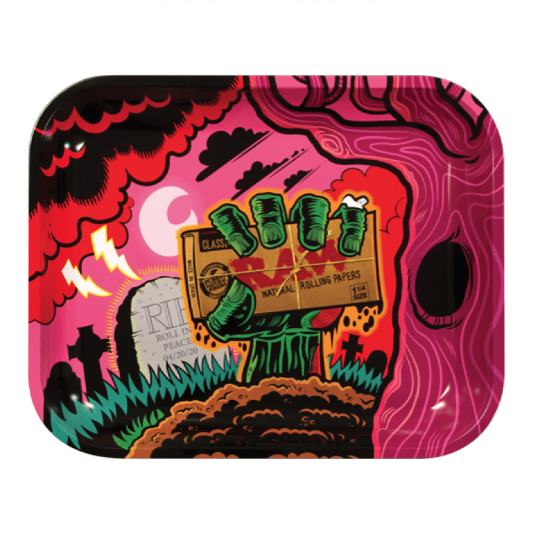 Raw Zombie Rolling Tray Large